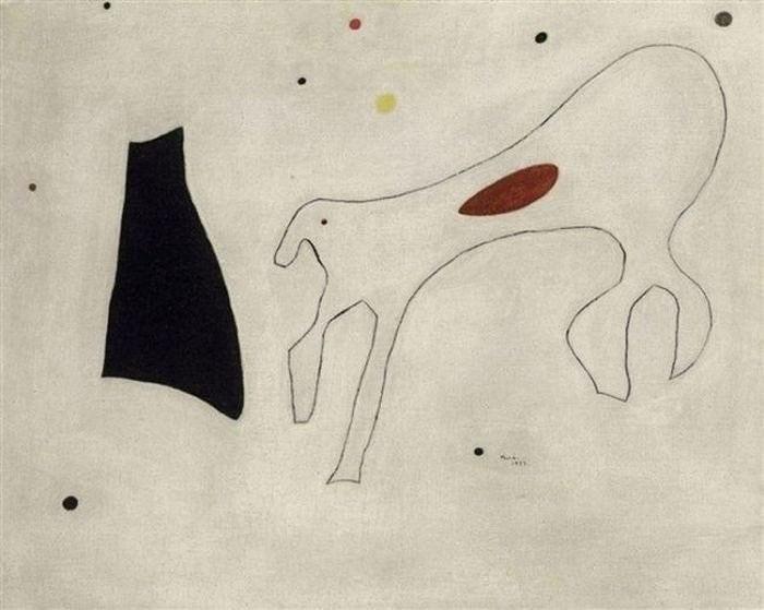 Tác phẩm Peinture Le Chien của Joan Miró, có giá 2,2 triệu USD.