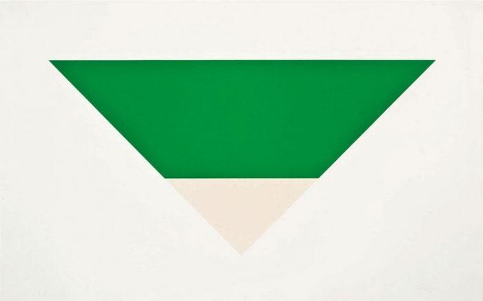 """Bức vẽ """"Green White"""" (1968) của Ellsworth Kelly trị giá 3,5 triệu USD."""