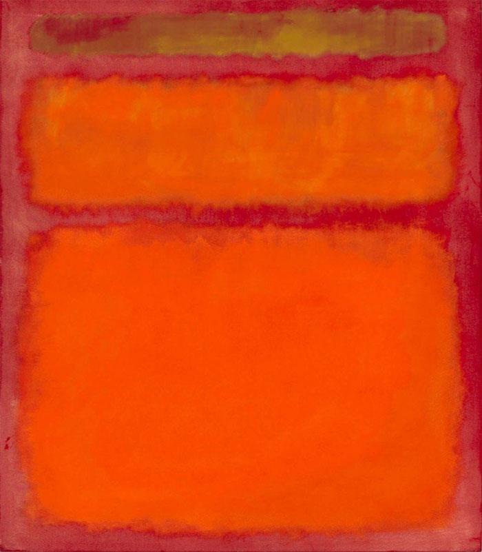 """Tác phẩm """"Orange, Red, Yellow"""" của họa sĩ Mark Rothko, trị giá 86,9 triệu USD."""