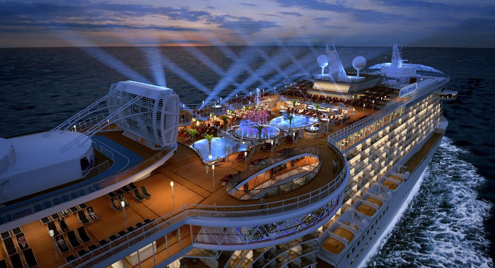 Du thuyền Regal Princess có tới 19 tầng cùng 1.000 cabin có ban công