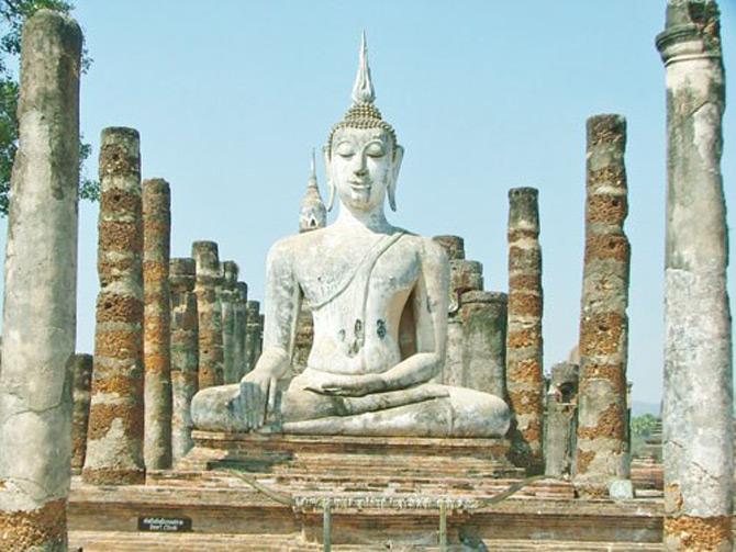 Tất cả các công trình này được bảo tồn tại công viên Sukhothai