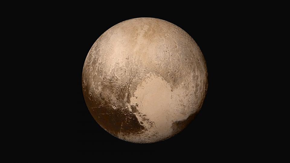 Sau chuyển hành trình kéo dài 9 năm, tàu vũ trụ New Horizons của NASA cuối cùng đã tới được Sao Diêm Vương và đây là một trong những hình ảnh mà nó gởi về Trái Đất.
