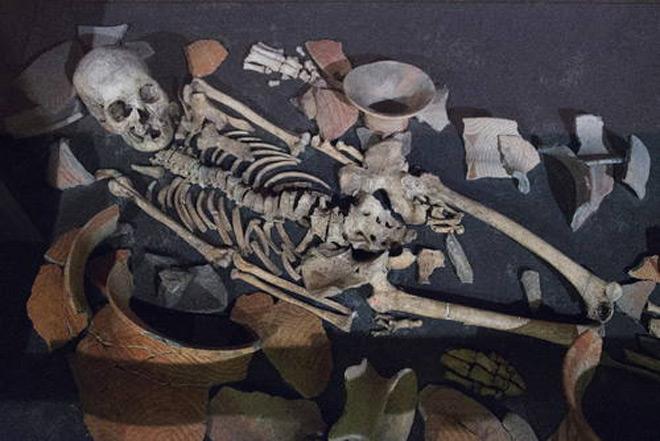 Trong những đồ vật khai quật được các nhà khảo cổ còn tìm thấy vụn gạo điều này chứng tỏ cho việc người nông dân đã định cư ở đây từ hàng nghìn năm trước.