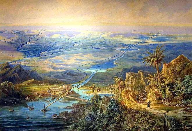 Kênh đào Suez hiện đại chỉ là một trong vô vàn đường thủy nhân tạo ngang dọc khắp Ai Cập.