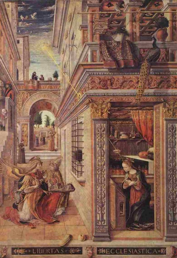 """Bức tranh """"Truyền tin với Thánh Emidius""""."""