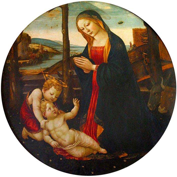 """Bức tranh """"Đức mẹ, Chúa hài đồng và tiểu thánh John""""."""