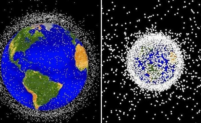 Space Balls và những phần khác sau khi tách ra khỏi tàu vũ trụ, trở thành rác thải không gian.