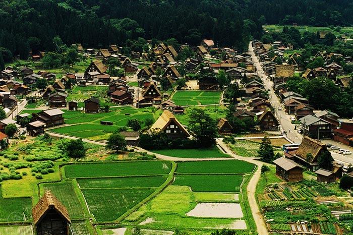 Làng cổ Shirakawa-go và Gokayama là ví dụ nổi bật về những khu vực đinh cư truyền thống được truyền từ thế hệ này qua thế hệ khác.