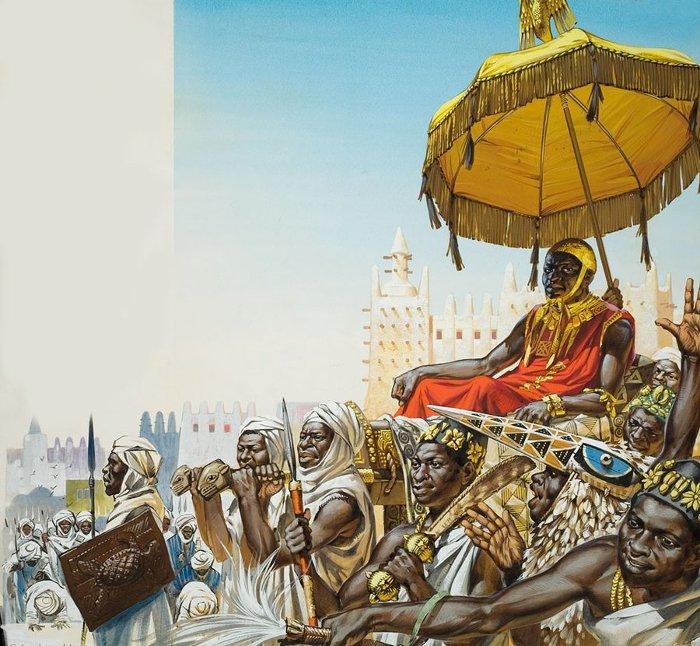 Mansa Musa lên ngôi năm 1312, trong lúc Mali đã là một Đế quốc hùng mạnh và nắm trong tay các tuyến đường thương mại trọng yếu.