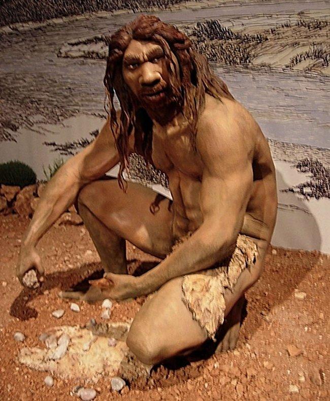 Hình ảnh mô phỏng người cổ đại Neanderthal.