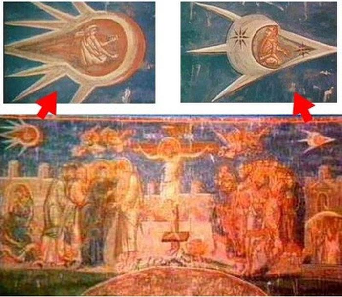 UFO cũng xuất hiện trong tôn giáo.