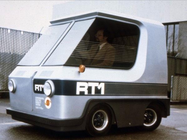 Nguyên mẫu xe điện RT1 ở Seattle, Washington trong những năm 1970.