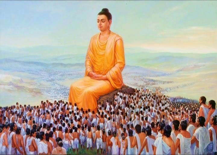 Đức Phật Thích Ca giảng đạo pháp cho các tín đồ Phật giáo