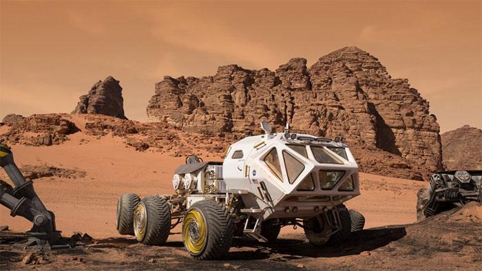 "Chiếc xe di chuyển trên sao Hỏa trong phim ""The Martian""."