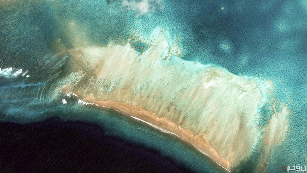 Quốc đảo Kiribati, Thái Bình Dương có 33 đảo san hô vòng.