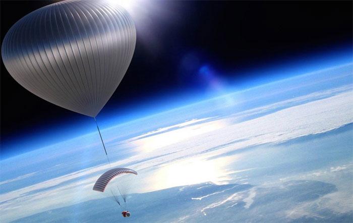 Khi hê-li đã hoàn toàn lấp đầy khinh khí cầu, hành khách sẽ được đưa lên tới độ cao khoảng 30 cây số.