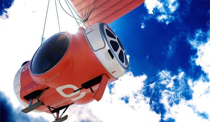 Khi chuẩn bị hạ cánh, phần khí cầu tách ra ở độ cao khoảng 15km, sau đó dù lượn ParaWing sẽ được kích hoạt bung ra.