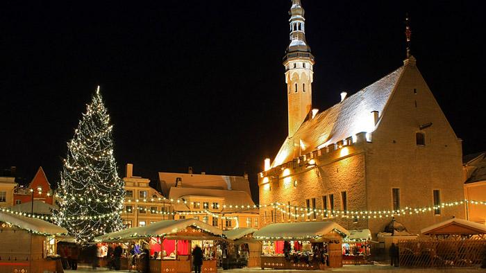 Khu chợ giáng sinh nổi tiếng tại Tallinn