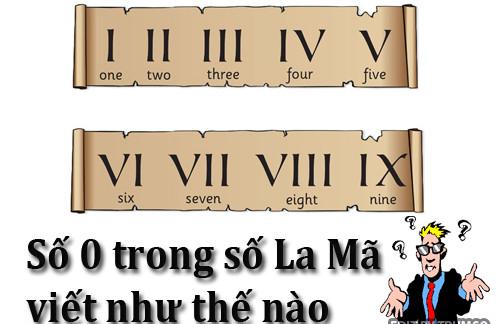 Người La Mã sẽ viết số 0 thế nào?