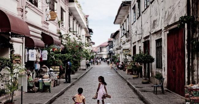 Thị trấn lịch sử Vigan của Phillipines được công nhận là Di sản văn hóa thế giới năm 1999.