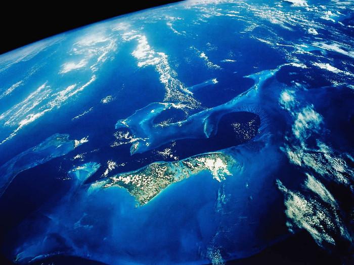 Hình ảnh Trái Đất nhìn từ không gian.