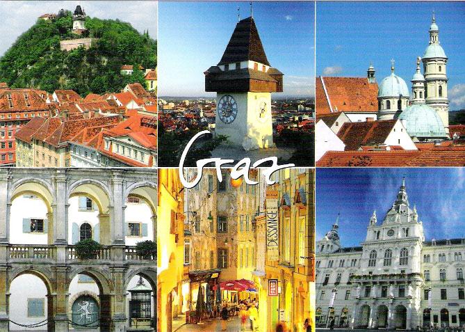 Thành phố Graz với khu trung tâm lịch sử Scholoss Eggenberg là một trong những thành phố đẹp nhất của nước Áo.
