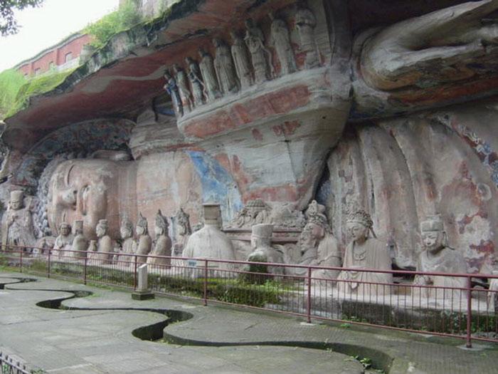 Các tượng đá ở Đại Túc chủ yếu là tượng Phật, sau đó là Đạo giáo và Nho giáo...