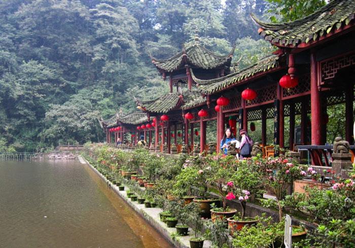 Unesco đã công nhận Núi Thanh Thành và công trình thủy lợi Đô Giang Yến là Di sản văn hóa thế giới năm 2000.