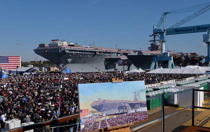 USS Gerald R. Ford sẽ gia nhập hạm đội tàu chiến của Hải quân Mỹ vào ngày 16 tháng 3 năm nay.
