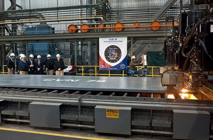 Vào ngày 25 tháng 2 năm 2011, Newport News Shipbuilding tổ chức lễ cắt lát thép đầu tiên cho tàu USS John F. Kennedy.