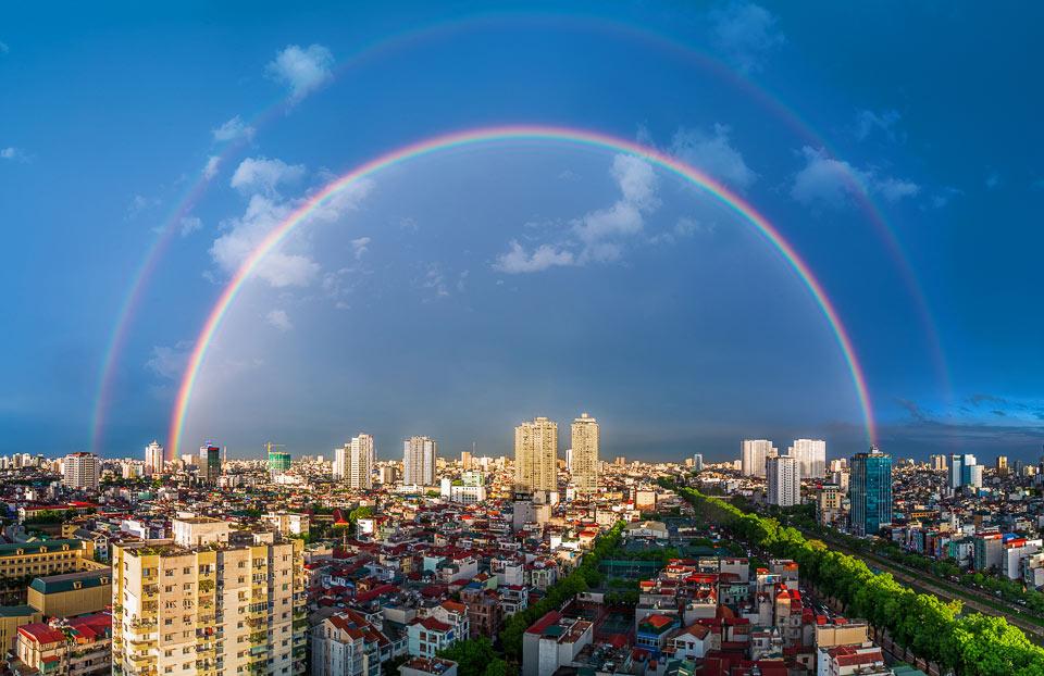"""""""Hà Nội sau mưa"""" của tác giả Vũ Long."""