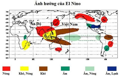 Ảnh hưởng của El Nino tới thế giới năm 2015.