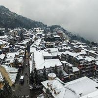 Ngắm Sa Pa chìm trong tuyết nhìn từ trên cao