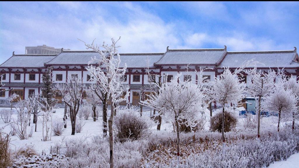Những nét kiến trúc hài hòa với khung cảnh mùa đông lạnh giá