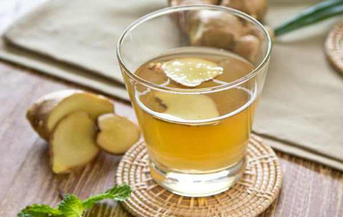Chữa cảm cúm bằng uống nước gừng nóng