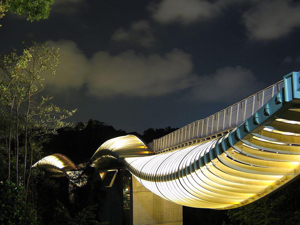 Cầu Henderson Wave nằm trên một con phố nhỏ và khá vắng vẻ có tên Telok Blangah, Singapore.