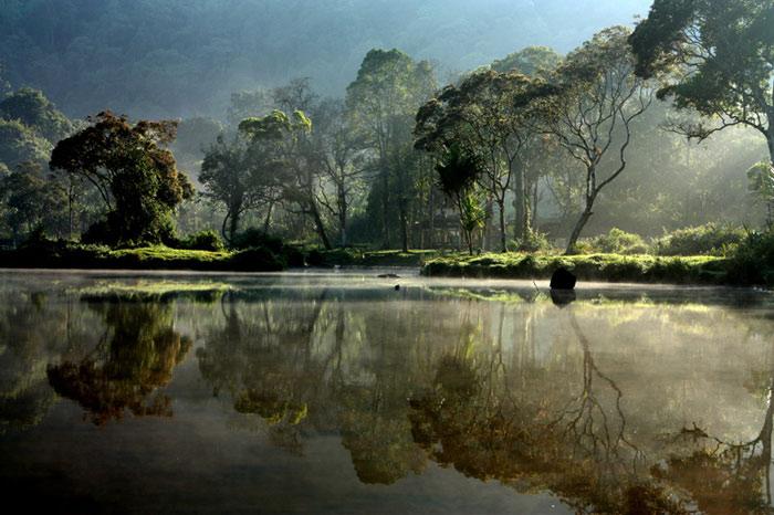 Vườn quốc gia Gunung Mulu nằm ở bang Sarawak, giáp với biên giới Brunes.