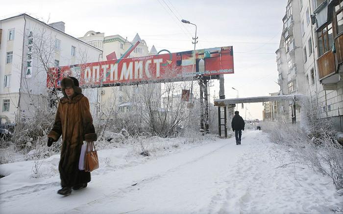 Nhiệt độ thấp nhất ở vùng băng tuyết Bắc cực so với Yakutsk thì cũng chẳng hơn nhau là mấy.
