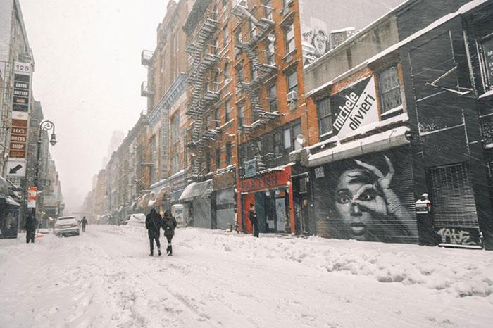 New York không chỉ đẹp bởi rừng nhà chọc trời nơi hiện thực hoá giấc mơ nhưn những gì mà Alicia Keys từng hát. New York còn đẹp ở sự tinh khôi sương tuyết thế này.