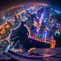 Dubai như thành phố trong phim viễn tưởng về đêm