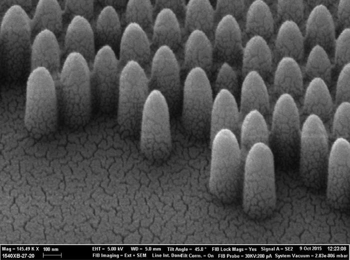 Còn đặc tính chống chói hay chống phản chiếu có được nhờ một cấu trúc nano.