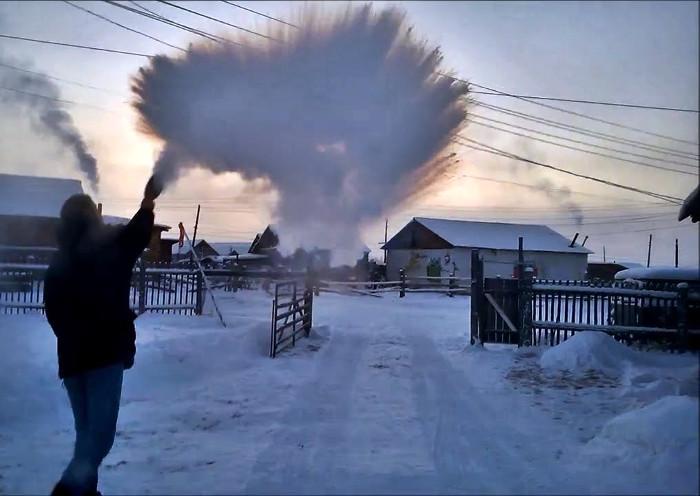 Huyện Oymyakon thậm chí còn có nền nhiệt thấp đến mức đáng sợ.