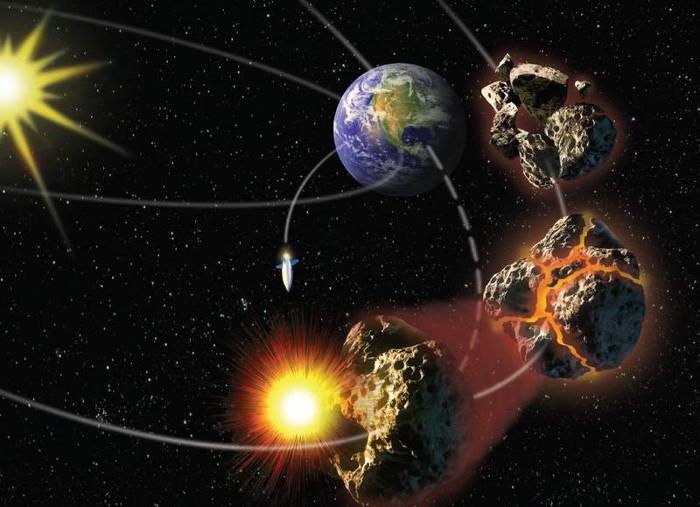 Mô phỏng dùng vũ khí hạt nhân làm nổ thiên thạch.