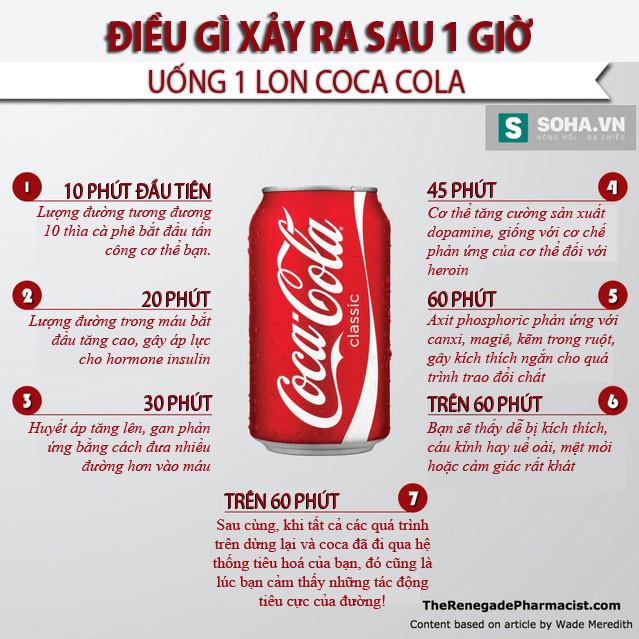 Dù tạo cảm giác sảng khoái khi uống, nhưng lượng đường trong 1 lon Coca Cola cũng gây ra những vấn đề không thể xem thường với sức khỏe.