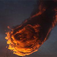 Đám mây hình cầu lửa trên bầu trời Bồ Đào Nha
