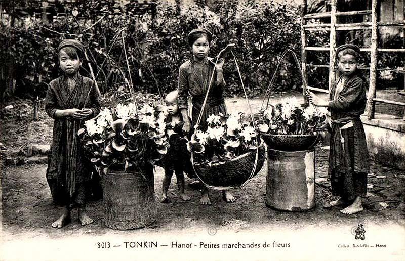 Gánh hàng hoa trong chợ Tết