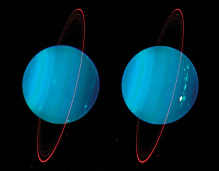 Thiên Vương Tinh là hành tinh thứ 7 trong Thái Dương hệ với cấu tạo chủ yếu từ khí hydrogen và helium.