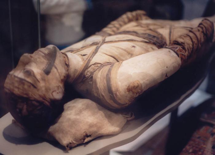 Xác ướp ở Bảo tàng Anh.