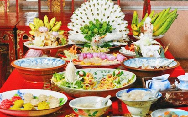 Các món ăn trong bữa tiệc cung đình xưa được mô phỏng lại