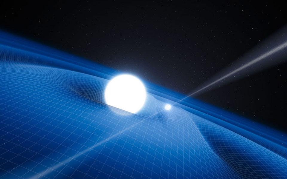 Mô phỏng khối lượng bẻ cong không thời gian theo giả thuyết của Einstein